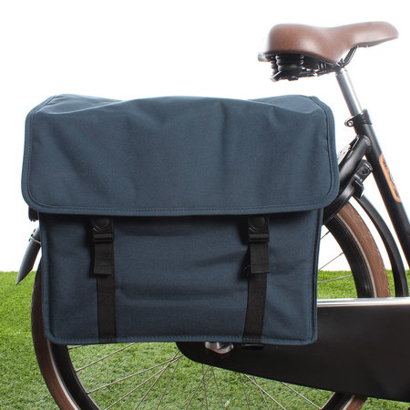 Beck Dubbele fietstas Canvas Medium 48L Blauw