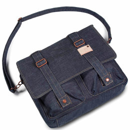 Cortina Kansas Messenger Bag Denim 12L Blauw