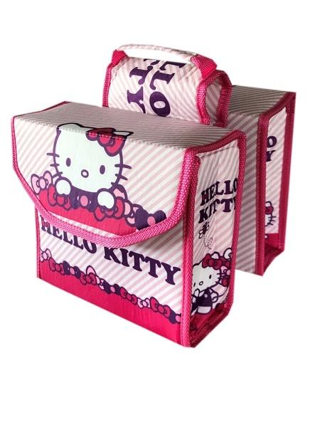 Kinderfietstas Dubbele Fietstas Hello Kitty kopen met voordeel