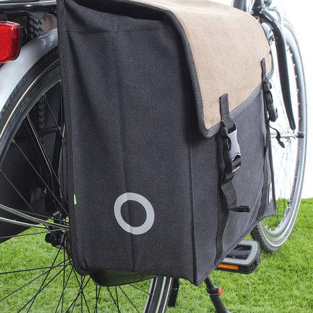 Willex Dubbele fietstas Canvas Tas 101 38L Bruin/Zwart