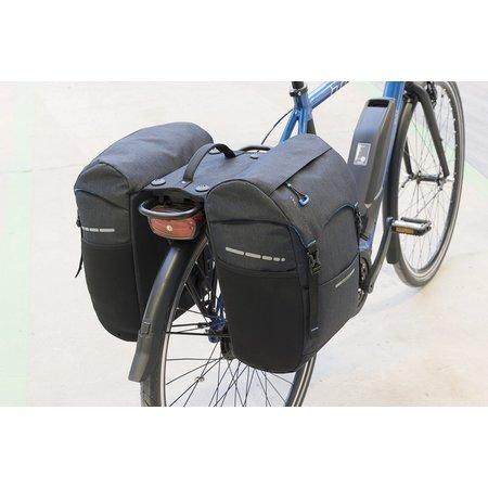 New Looxs Dubbele fietstas Sports Double Racktime 30L Zwart