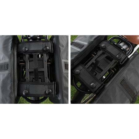 Basil Dubbele fietstas Urban Dry Double Bag MIK 50L Charcoal Melee