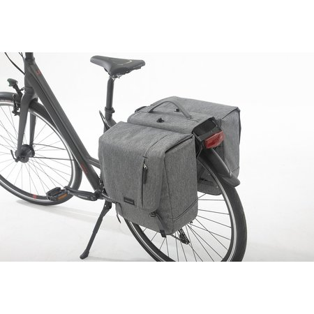 New Looxs Dubbele fietstas Nova Double 32L Grijs - Afneembaar