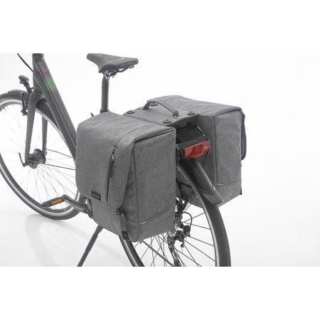 New Looxs Dubbele fietstas Nova Double RT 32L Grijs
