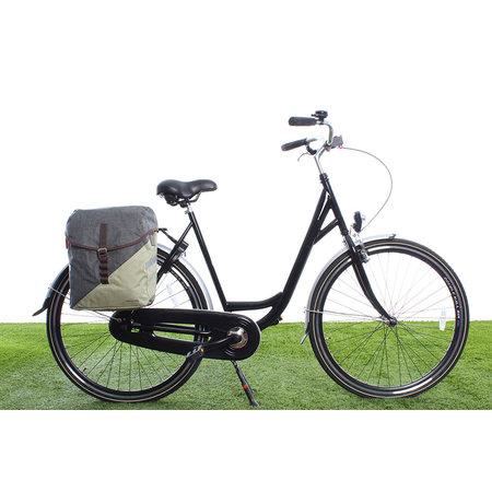 Racktime Enkele fietstas / schoudertas Mia 17,5L Dust Grey/Peat Bog Green