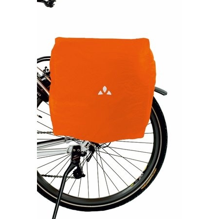 Vaude Regenhoes voor fietstassen Rood