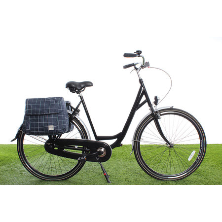 New Looxs Dubbele fietstas Joli Double 37L Check Blue