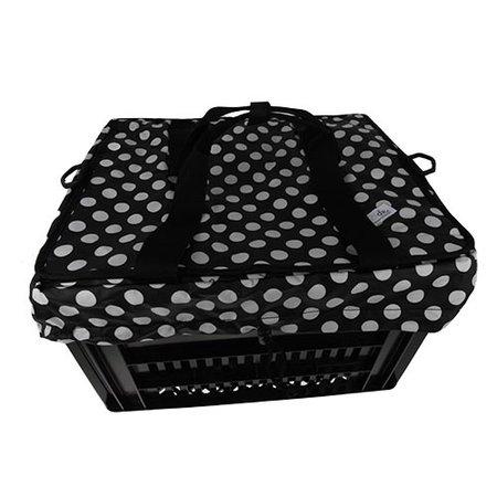 Hooodie Crate Krattas White Small Dots - voor Kerri fietskrat