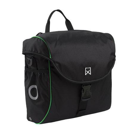 Willex Enkele fietstas/ Pakaftas 300 18L Zwart/groen