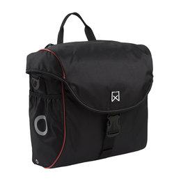 Willex Enkele fietstas/ Pakaftas 300 18L Zwart/rood