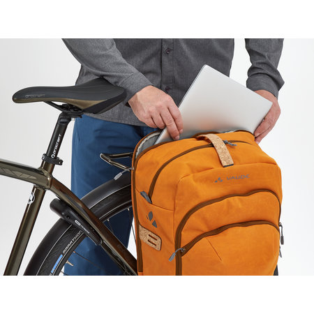 Vaude Enkele fietstas eBack Single 28L Oranje - e-bike
