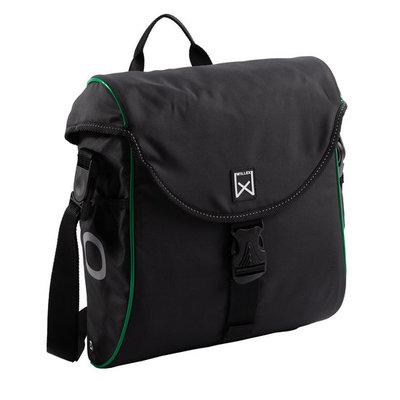 Willex Enkele fietstas/ Pakaftas 300 S 12L Zwart/groen