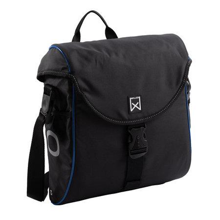 Willex Enkele fietstas/ Pakaftas 300 S 12L Zwart/blauw