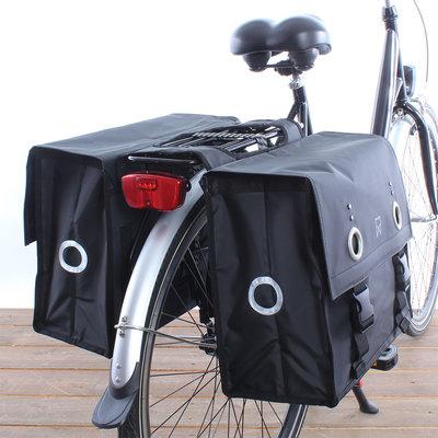 Willex Dubbele fietstas Bisonyl Tas 52L Matzwart