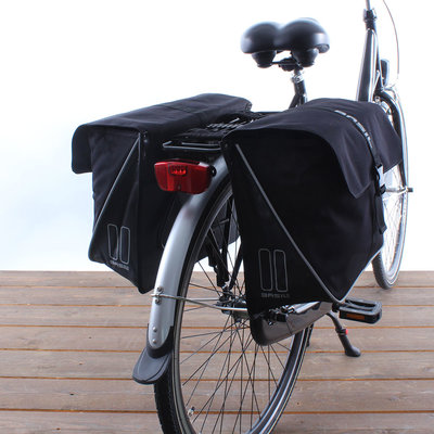 Basil Dubbele fietstas Forte 32L Zwart