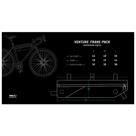 AGU Venture Frame-pack Medium Zwart - 4L