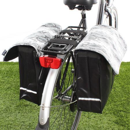 Beck Dubbele fietstas Animal Snake 36L Grijs