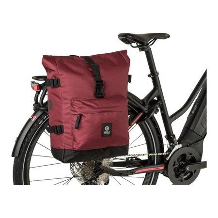 AGU Enkele fietstas Urban Trend H2O Roll-top 14L Rood - waterdicht
