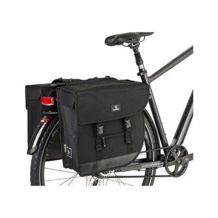 FastRider Dubbele fietstas Hybride Groot 35L Zwart