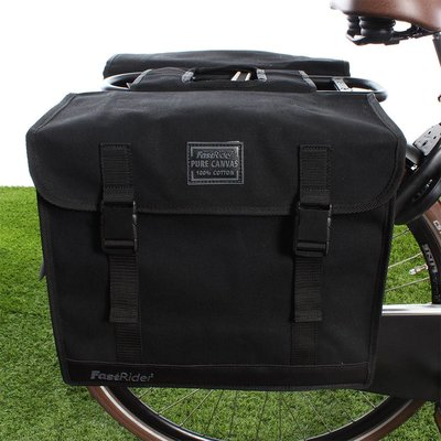 FastRider Dubbele fietstas Canvas 36 36L Zwart