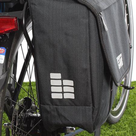CONTEC Dubbele fietstas Neo Double RT XL 33L Zwart/Grijs