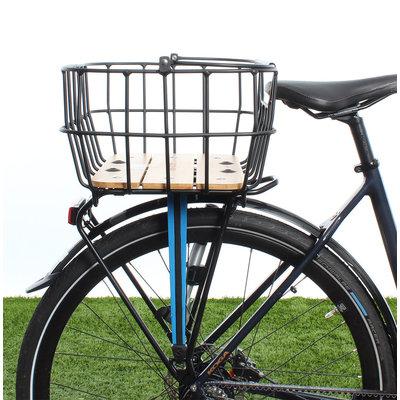 Racktime Baskit Breeze - aluminium en bamboe - zwart