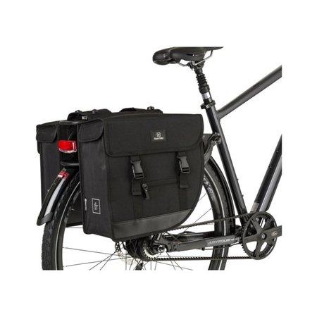 FastRider Dubbele fietstas Hybride 26L Zwart