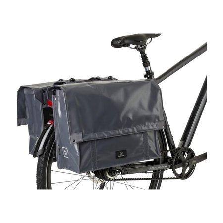 FastRider Dubbele fietstas Cargo Tarpaulin 46L Grijs