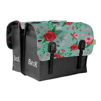 Beck Dubbele fietstas Classic Flowers