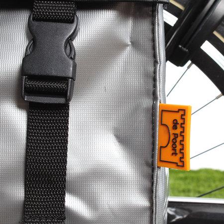 De Poort Dubbele fietstas TwoTone Matzwart/zilver 46L