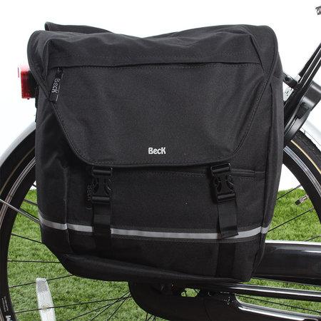 Beck Dubbele fietstas SPRTV XL Zwarte Bies 40L Zwart