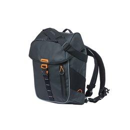 Basil Fietsrugzak Miles Tarpaulin Daypack 17L Zwart/oranje