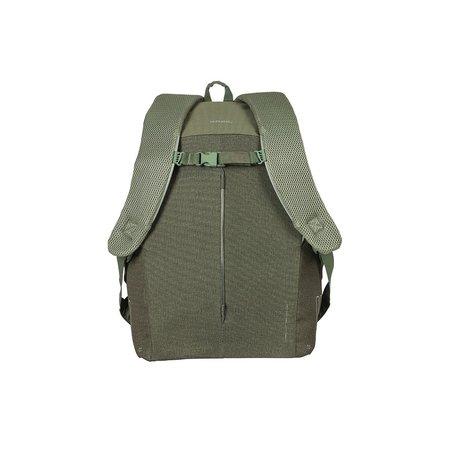 Basil Fietsrugzak B-Safe Nordlicht Backpack 18L Groen