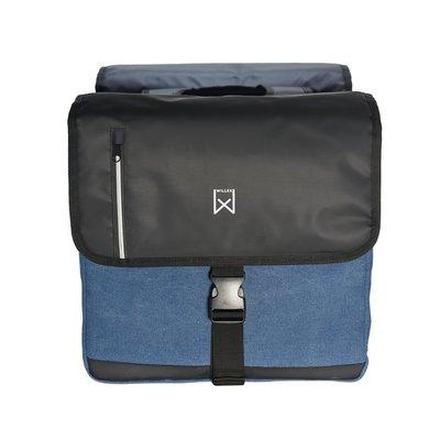 Willex Dubbele Businesstas 30L Blauw/Zwart