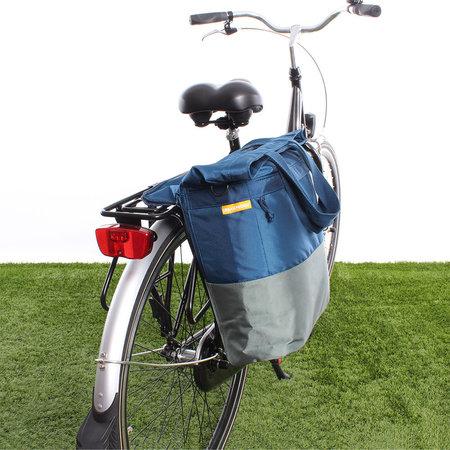 Urban Proof Shopper fietstas 20L Recycled - Blauw/Groen