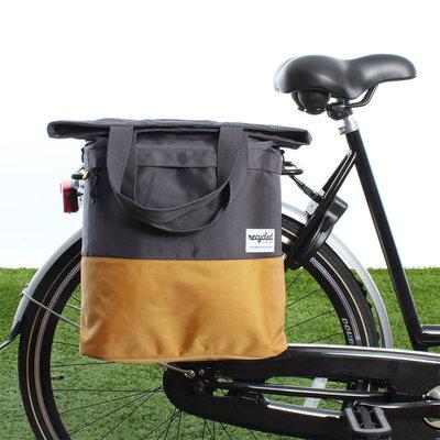 Urban Proof Shopper fietstas 20L Recycled - Grijs/Geel