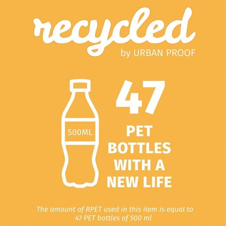 Urban Proof Shopper fietstas 20L Recycled - Zwart/Grijs