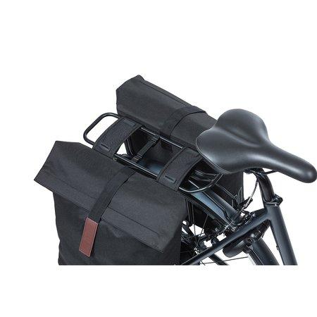 Basil Dubbele fietstas City Black 32L