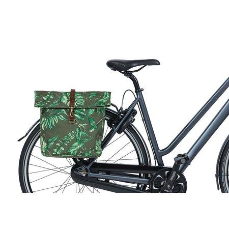 Basil Dubbele fietstas Ever-Green Thyme Groen 32L