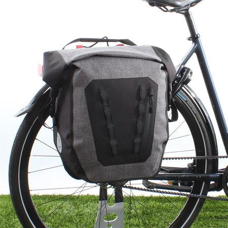 AGU Enkele fietstas Shelter Tech Large 21L Grijs - Waterdicht