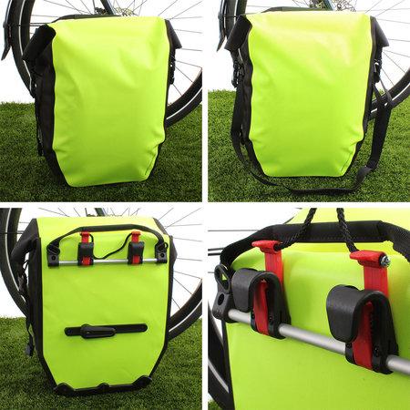 AGU Enkele fietstas Shelter Clean Large 21L Neon Geel - Waterdicht