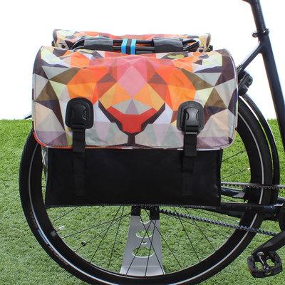 Beck Dubbele fietstas Classic Tiger