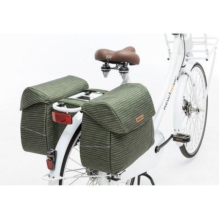 New Looxs Dubbele fietstas Joli Double 37L Nomi Green