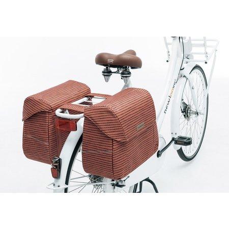 New Looxs Dubbele fietstas Joli Double 37L Nomi Red