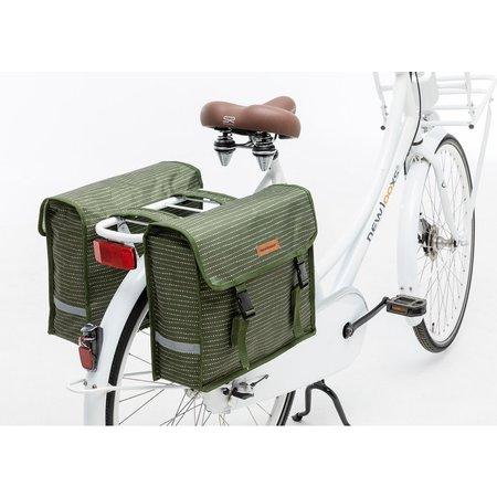 New Looxs Dubbele fietstas Fiori Double Nomi Green 30L