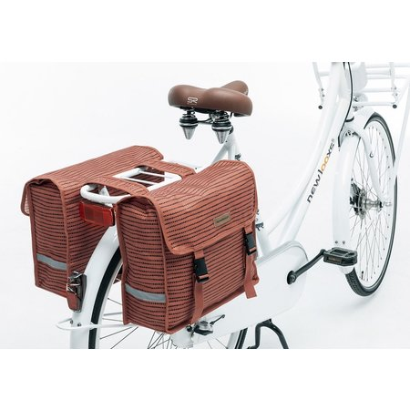 New Looxs Dubbele fietstas Fiori Double Nomi Red 30L