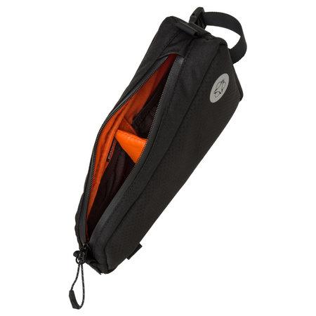 AGU Venture Frame-pack Top Tube Hivis Zwart - 0,7L