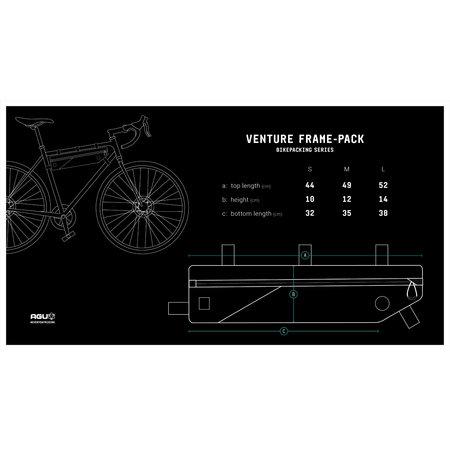 AGU Venture Frame-pack Medium Hivis Zwart - 4L