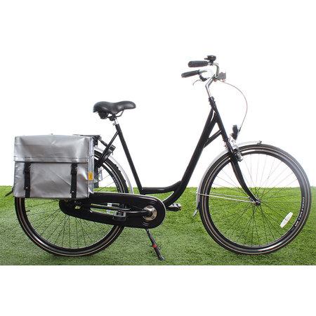 De Poort Dubbele fietstas Zilver 46L