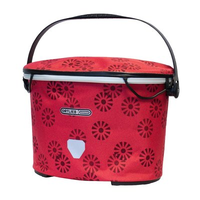 Ortlieb Stuurtas Up-Town Design Floral Red - 17,5L